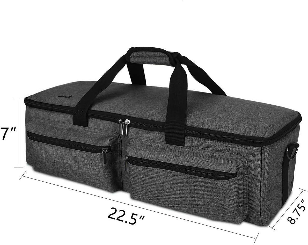 Machine de D/écoupage Sac de Transport Pvc Oxford Tissu Artisanal Sac Compatible avec Cricut Explore Air Cricut Maker Silhouette Cameo 4