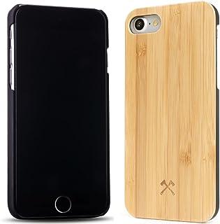 Woodcessories – Carcasa, Funda compatible con iPhone  7 / 8, de madera real, EcoCase Classic (Bambú / Negro)