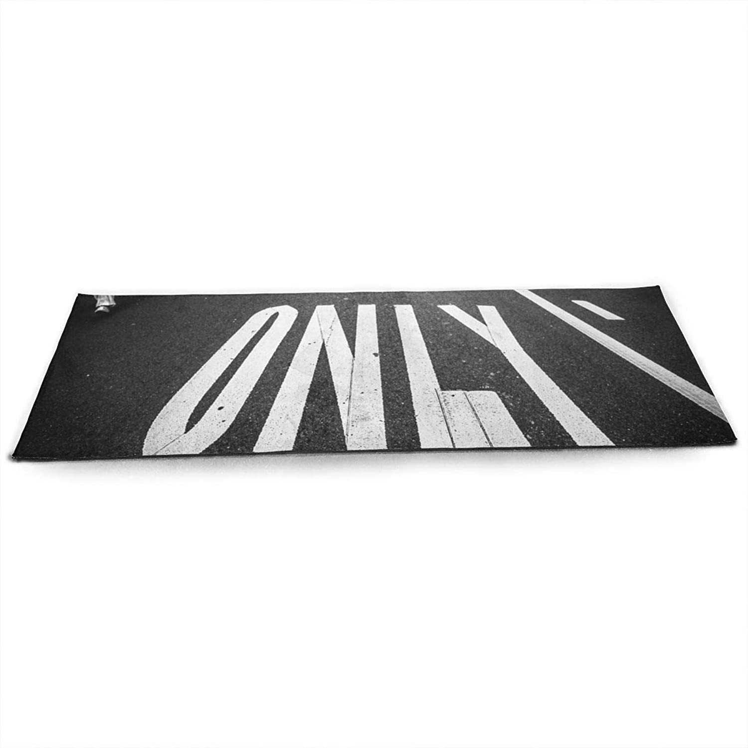 Whages Only Road NonSlip Soft Advanced Printed Environmental Yoga Mat 31.5   × 51.2