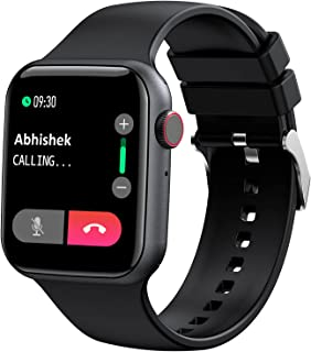 """(Renewed) Fire-Boltt Ring Bluetooth Calling Smartwatch with SpO2 & 1.7"""" Metal Body with Blood Oxygen Monitoring, Continuou..."""