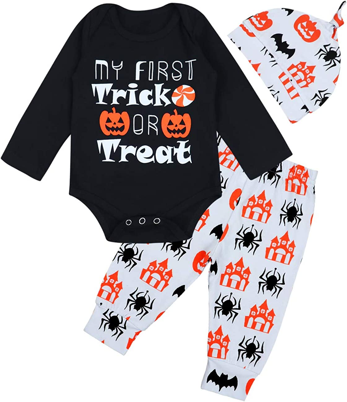 Thanksgiving Outfit Newborn Baby Boy Girl My First Thanksgiving Romper Turkey Pant Hat Headband 4pcs Clothes Set