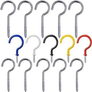FineGood 15 stuks metalen beker haak plafond haken, schroef-in Hangers voor binnen en buiten opknoping gebruik, 5 Stks 2....