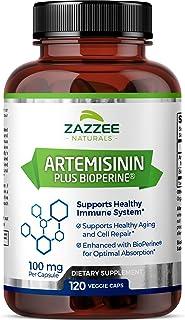 Zazzee Artemisinin, 100 mg per Capsule, 120 Veggie Capsules, 4 Month Supply, Plus 5 mg BioPerine for Enhanced Absorption, ...