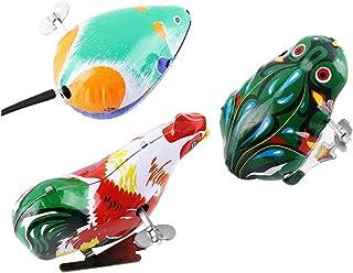 YeahiBaby Wind up Animal Toys Plush Chicken Clockwork Jumping Chic Toys Favores de Fiesta para Pascua 12pcs Amarillo