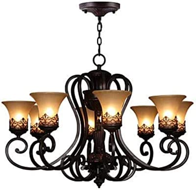 LNC Esch 5 Light Bronze Modern Chandelier Farmhouse Dining