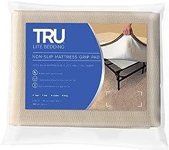 (Queen) - TRU Lite Bedding Non Slip Mattress Grip Pad - Keeps All Mattress Types In Place For a Great Night's Sleep - Idea...