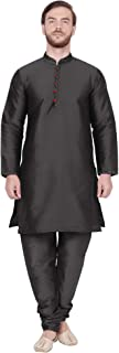 Men's Tunic Art Silk Kurta Pajama Set Ethnic Indian Wear