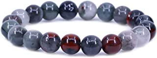Keleny Gem Semi Precious Gemstones 10mm Round Beads Crystal Stretch Bracelet 7.2 Inch Unisex