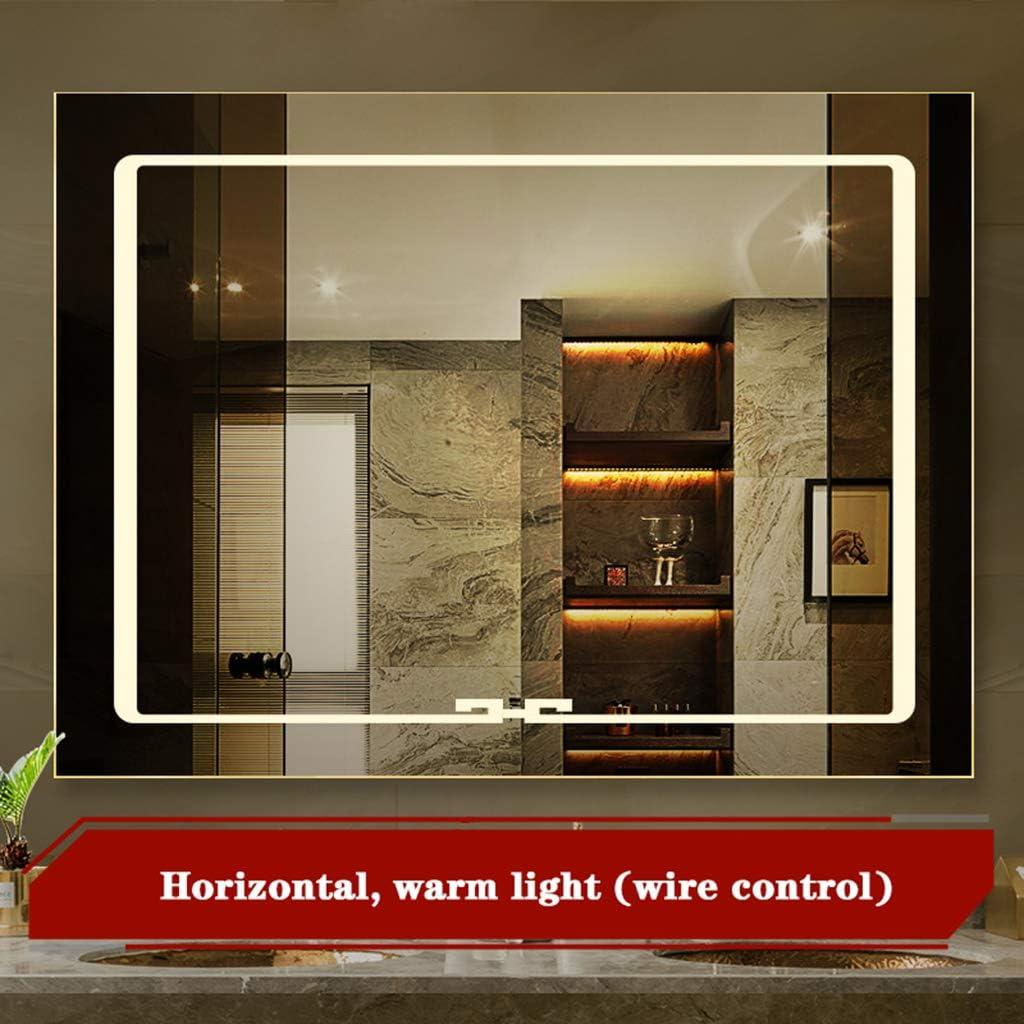 Amazon Com Bathroom Mirror Specchio Da Bagno Led Frameless Porta Da Bagno Da Bagno Con Montaggio A Parete 12v Con Specchio Luminoso