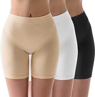 MELERIO Women's Seamless Boyshort Panties, Smooth Slip Shorts for Under Dresses