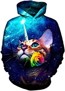 1a123a30b32 Cute Yinyang Cat 3D Galaxy Cats Sweatshirt Cool Wolf Lions Tiger Pullovers