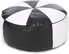 InkCraft XXL Ink Craft Bean Bag Foot Stool/Floor Cushion Empty Cover (Without Beans) (Black-White)
