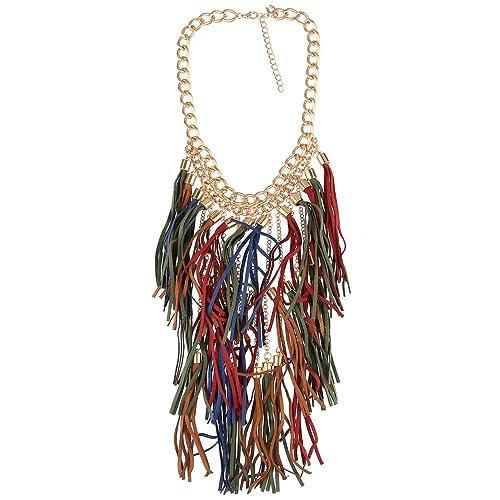 Long Tassel Jewelry Statement Black Choker Women Bib Collar Necklace Velvet