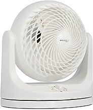 Iris Ohyama, Ventilateur de Table Puissant, Oscillation, 23m², 49W - Woozoo PCF-MKM18 - Blanc, 29.1 x 19.1 x 31 cm