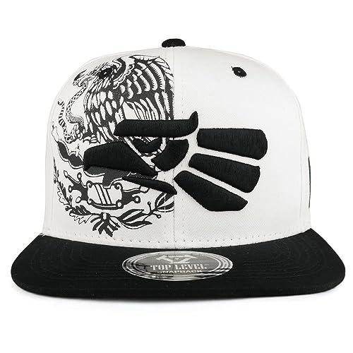 118e5f995d690 Trendy Apparel Shop Hecho EN Mexico Eagle 3D Embroidered Flat Bill Snapback  Cap