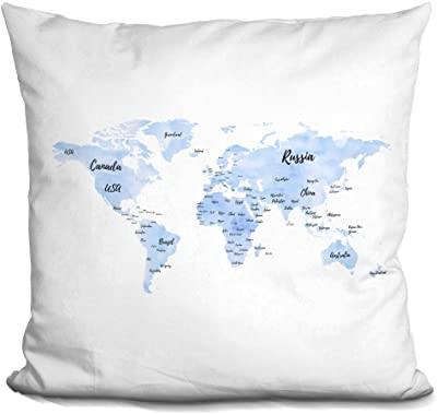Amazon Com Pattern Pop Personalized State Of New York Home Throw Pillow Home Kitchen
