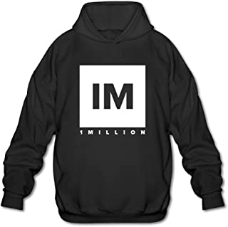 1 MILLION Dance Studio Logo Hooded Sweatshirt Black For Men