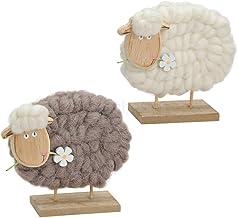 Deko 3 x Schaf hockend weiß Porzellan Dekoration Ostern Top Angebot dekorieren