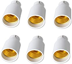 B22 to E27 Bulb Adapters 6 Pack Lamp Holder Converter Base Bulb Socket Adapter Converter Lamp Holders Bayonet Cap B22 to E...