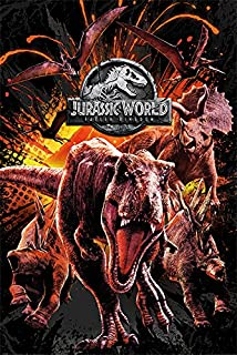Jurassic Park - Póster «Jurassic World: el reino caído» - Póster (61 x 91,5 cm), multicolor