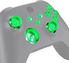 eXtremeRate Botões de sincronização ABXY para Xbox Series X/S, 7 cores 9 modos DTF LED Kit para controle Xbox Series X/S –...