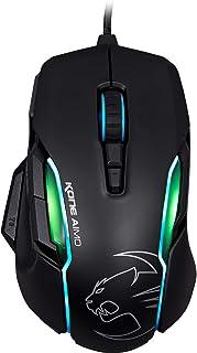 (Kone AIMO Black, Owl-Eye Optical Sensor) - ROCCAT Kone AIMO Gaming Mouse - high precision, optical Owl-Eye Sensor (100 to 12.000 DPI), RGB AIMO LED illumination, 23 programmable keys, designed in Germany, USB, black