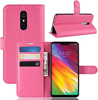 حقائب جلدية Texture Horizontal Flip Leather PU + TPU Case for LG G7 Fit, with Wallet & Holder & Card Slots(Black) الحالات ...