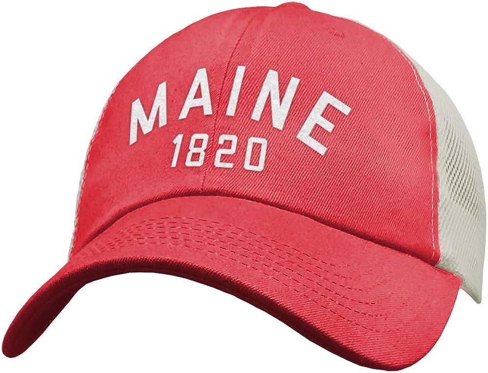 207 Threads Soft Maine Trucker Hat, Maine Snapback Baseball Cap for Women & Men - Very Soft, Comfortable & Breathable