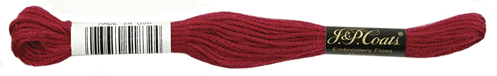 Coats Crochet 6-Strand Embroidery Floss, Very Dark Cranberry, 24-Pack