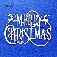 クリスマスの誕生日の挨拶スクラップブッキングDIYアルバムカード紙ダイメタルクラフトステンシルパンチカットダイカット
