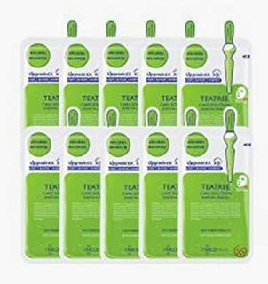 MediHeal - Mask Sheet - Tea Tree Care Solution Essential Mask EX - Soothing, Hydrating, Calming Down Irritated, Acne -Pron...