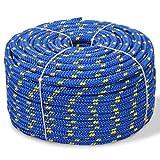 Tidyard Corde de Bateau | Corde Rolypropylène Rouleau | Ligne d'amarrage 10 mm 50 m Bleu