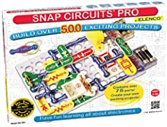 Build over 500 experiments with 76 parts Experiments include: digital voice recorder, AM radio, digitally tuned FM radio, AC generator, screaming fan, whistle switch and much more! Parts included: snap wires, slide switches, resistors, an FM radio mo...