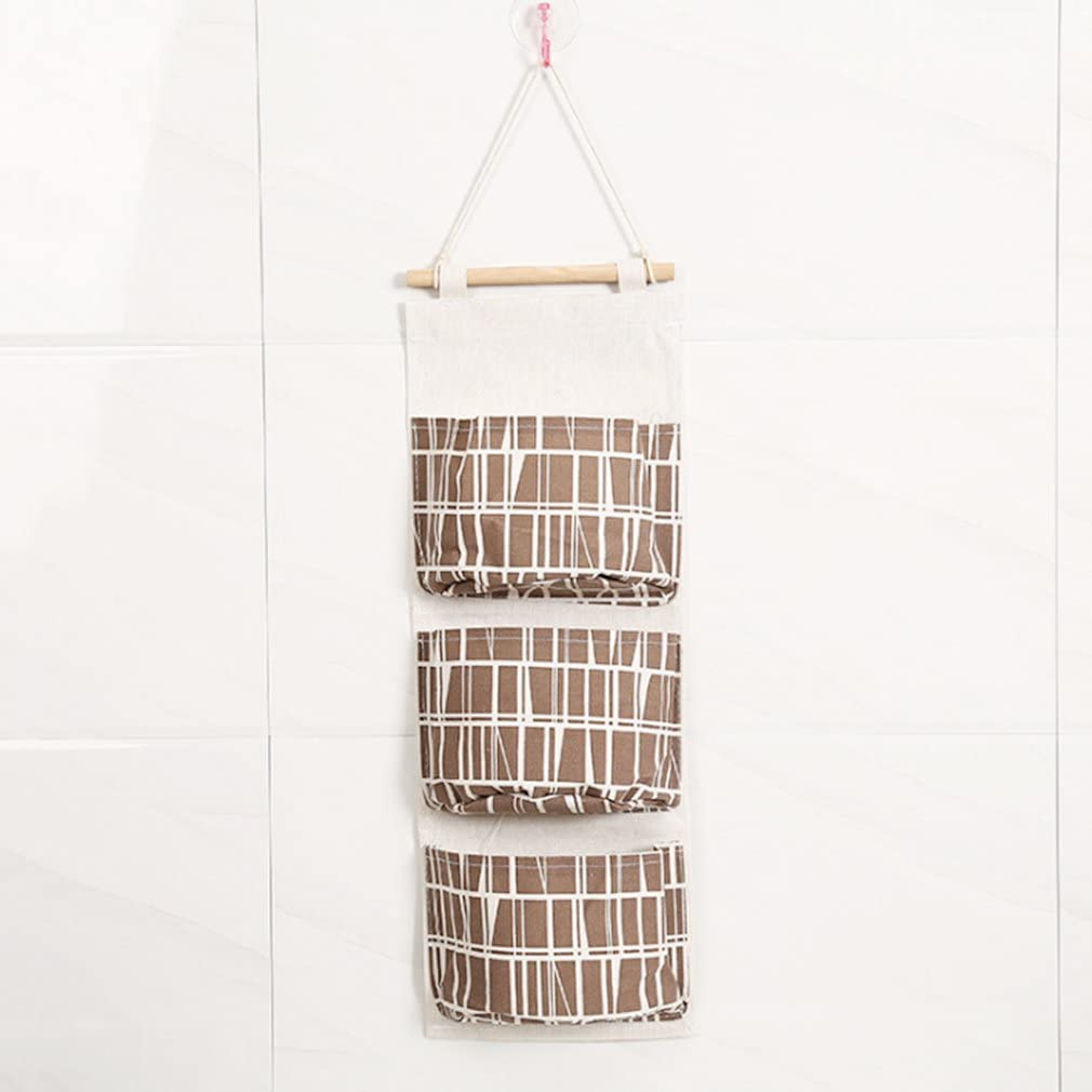 Sales of SALE items from new works Myhouse Wall Door Hanging Storage Organ 3 El Paso Mall Brown Bag Bags