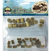 牧草セット ロール牧草(15個入り)&長方形の牧草(20個入り) HOスケール