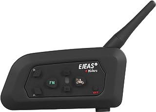 Mihono 4Riders Interphone V4 バイク用 インカム ツーリング対応 4人同時通話可能 FMラジオ 音楽 IP65防水 ブルートゥース インターコム ヘッドセット 日本語説明書付き 「技適認証済」
