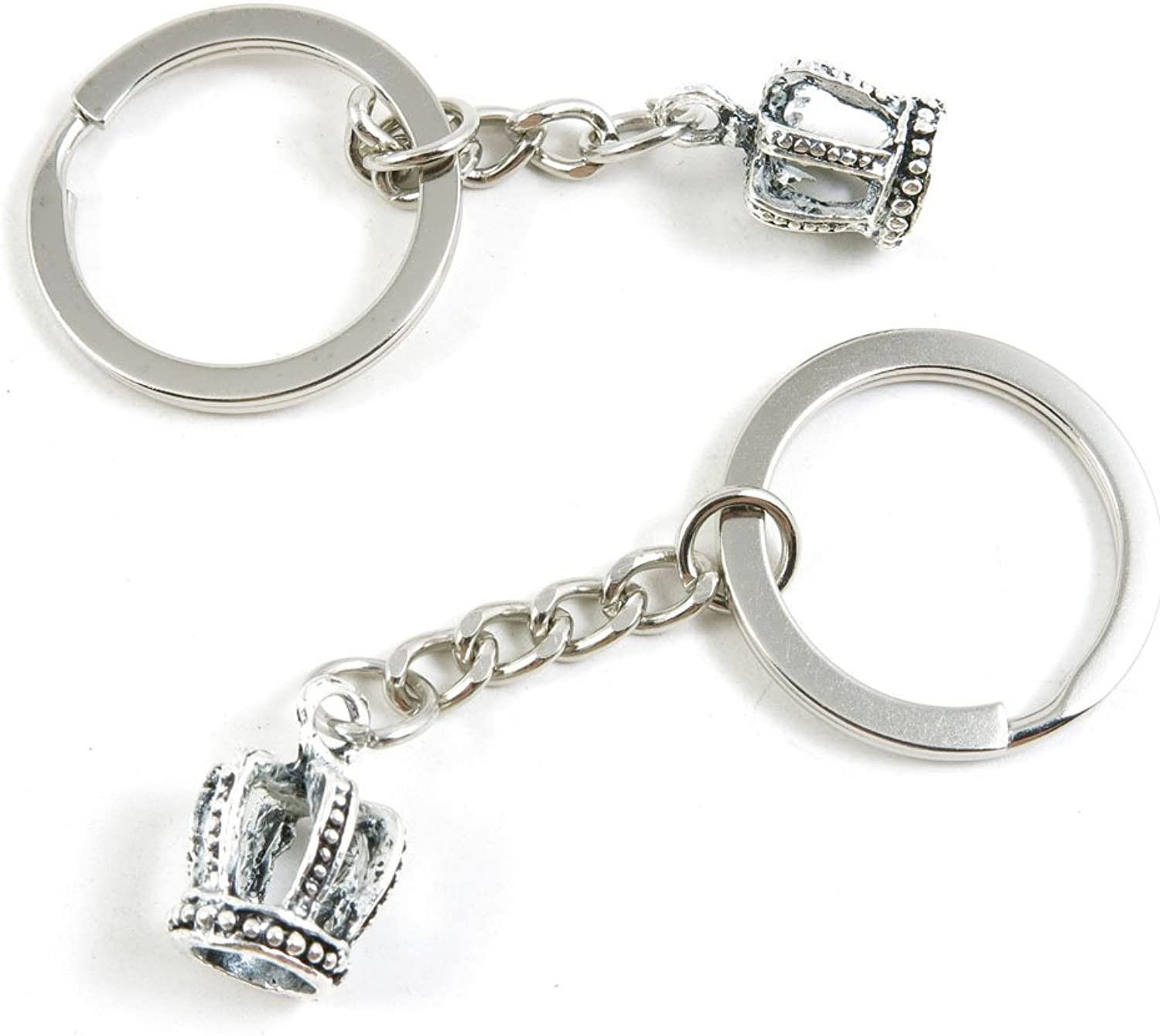 170 Pieces Fashion Jewelry Keyring Keychain Door Car Key Tag Ring Chain Supplier Supply Wholesale Bulk Lots C9YS9 3D Crown