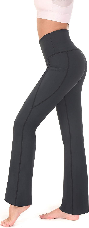 RUFIYO Womens Bootcut Yoga Pants High Waist Tummy Control Inseam 31//32
