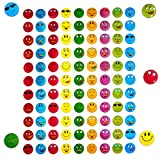 Oblique-Unique® 900 x Smiley Face Sticker I Bunt...