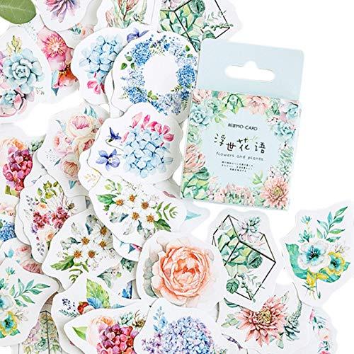 BLOUR dier- en schattig vintage-design, meerkleurig, papieren stempel, stickers voor notebook en enveloppen, 46 stuks/verpakking L