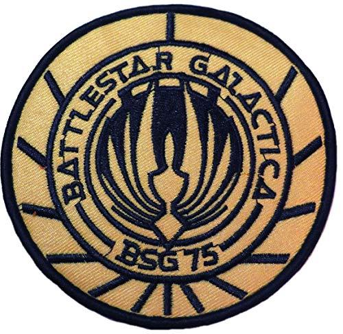 Battlestar Galactica Gold BSG 75 Symbol Embroidered Patch