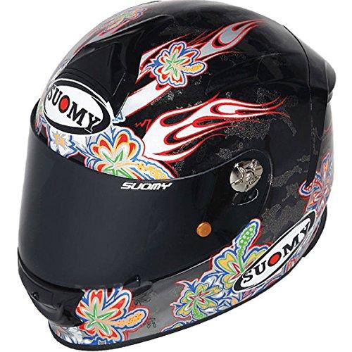 Suomy スオーミー SR SPORT FLOWER Helmet 2014モデル ヘルメット ブラック XXL(63~64cm)