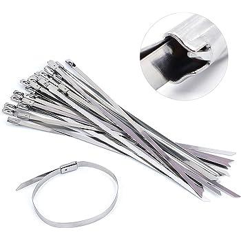 Atadura de cables de Metal de Acero Inoxidable Cremallera Lazos Correa wrap de escape Abrazadera