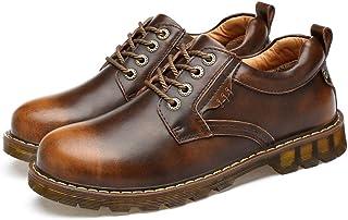 Candys house Chaussures de travail décontractées et confortables pour homme avec bout rond et semelle extérieure Bronze Po...