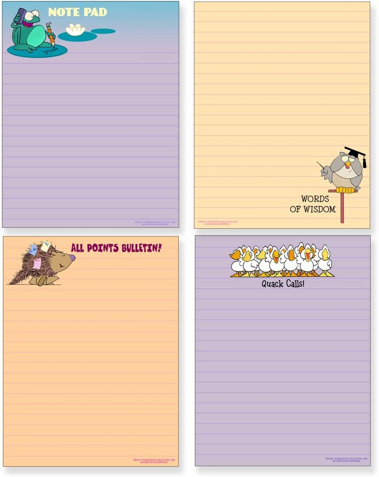 Four Funny Notepad Assorted Pack - Great 5.5in Same day shipping x Gift Set Al sold out. 4.25