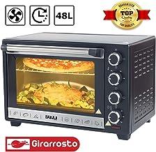 Plastica 1800 W Bestron AOV45 Mini Forno 45 Litri Nero
