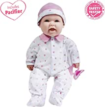 JC Toys, La Baby 16-inch Pink Washable Soft Baby Doll with Baby Doll Accessories - for Children 12 Months and Older, Designed by Berenguer