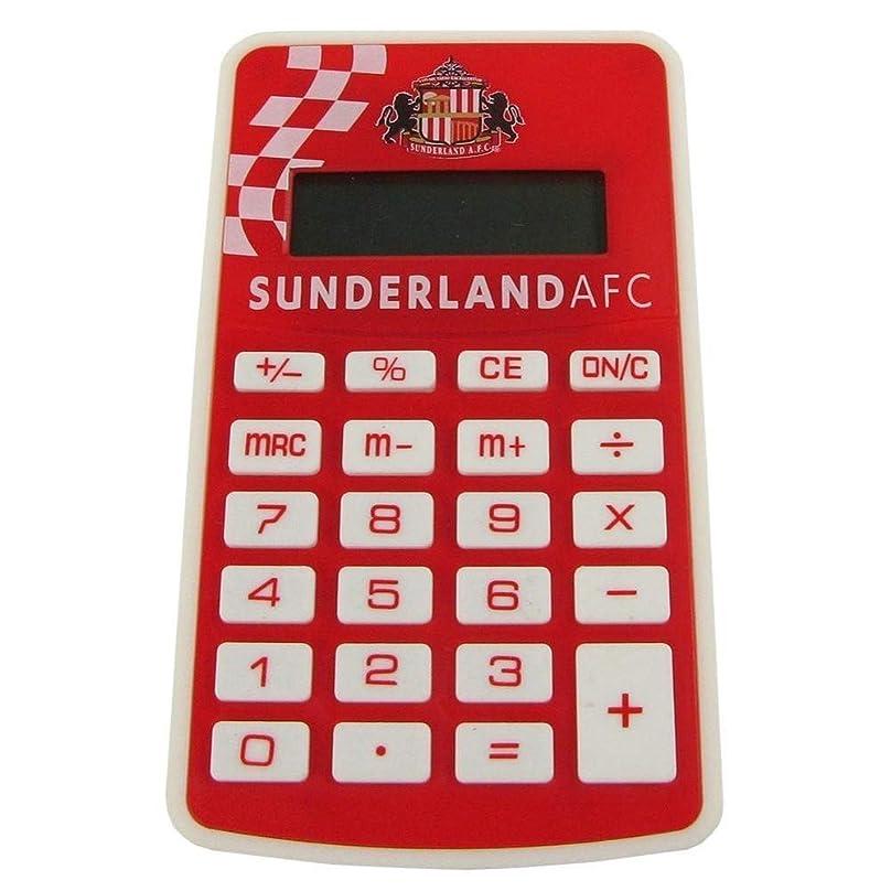 項目朝ごはん降伏サンダーランド?アソシエーション フットボールクラブ Sunderland AFC オフィシャル商品 ポケット電卓 計算機 文房具 (ワンサイズ) (レッド)