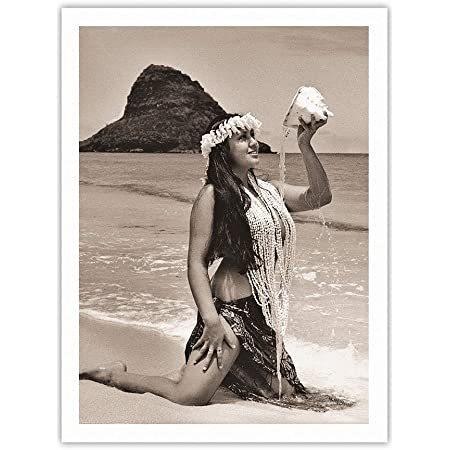 Kane Alan Houghton 1960s Vintage Photograph Print Hula Dancer Hawaiian Male