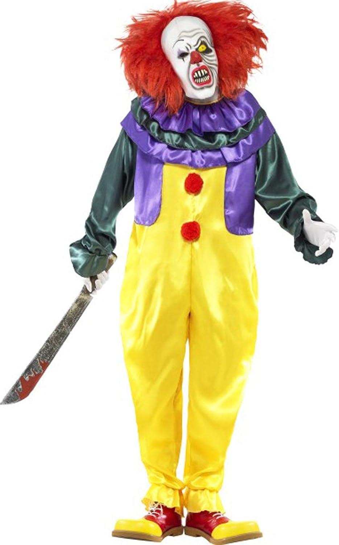 alto descuento Smiffy's Disfraz Disfraz Disfraz para Hombre de Fiesta Disfraz de Payaso clásico terrorífico Adulto Completo Vestido  mejor reputación